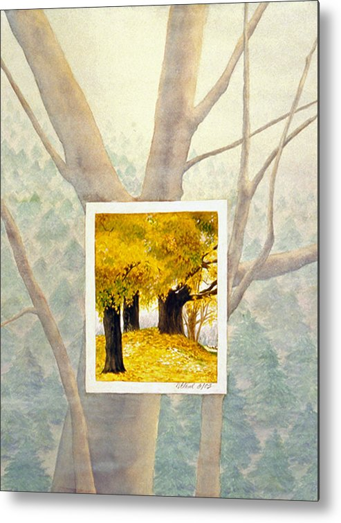 Autumn Metal Print featuring the painting Eastern Autumn by Nancy Ethiel