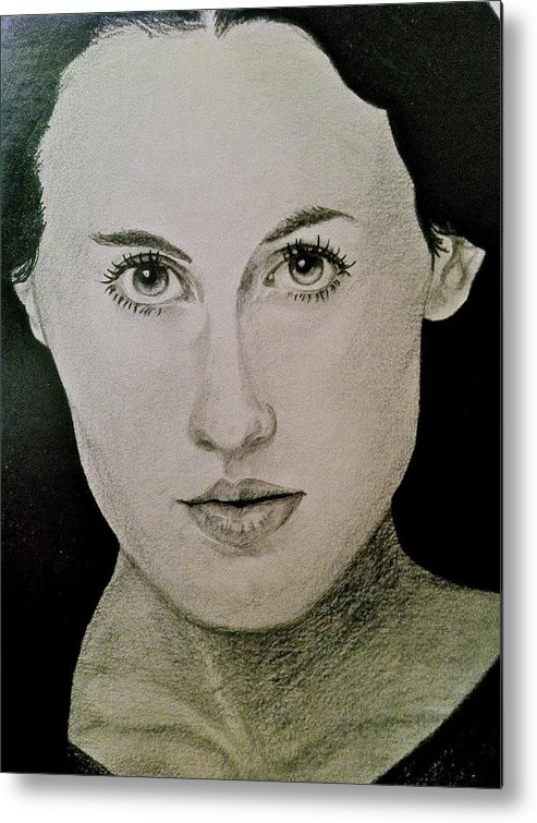 Face Metal Print featuring the painting Elizabeth by Tim Conroy