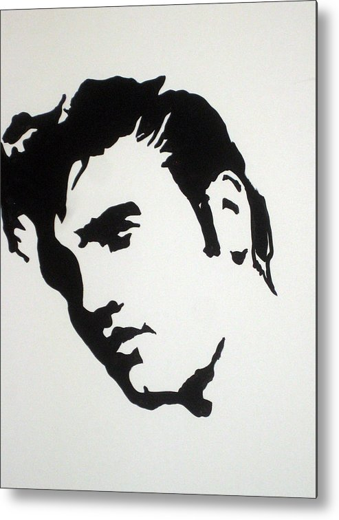Elvis Metal Print featuring the drawing Elvis Before Time by Robert Margetts