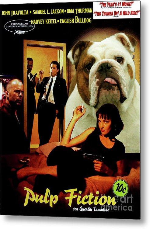 English Bulldog Art Canvas Print