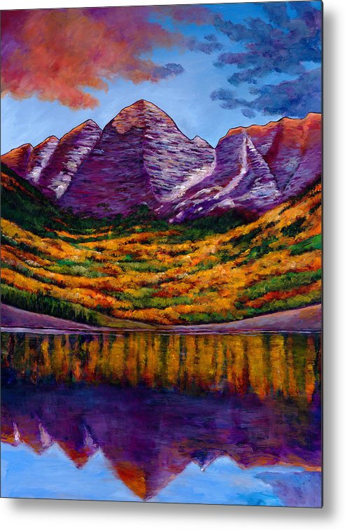 Landscapes Metal Print featuring the painting Fall Symphony by Johnathan Harris