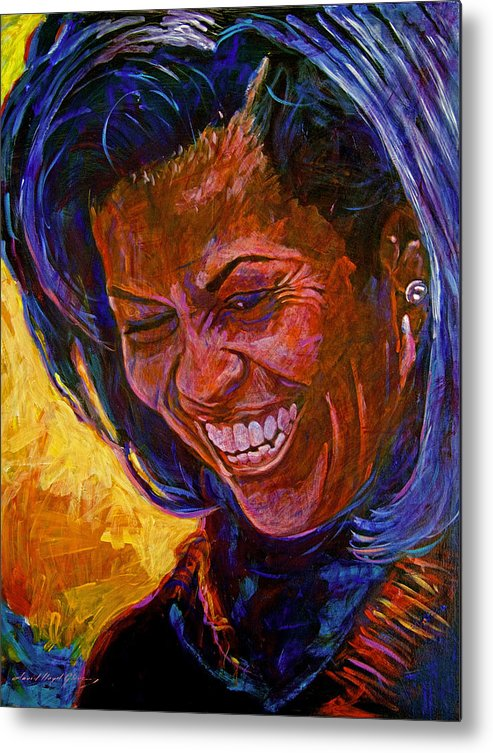 Michele Obama Artwork Metal Print featuring the painting First Lady Michele Obama by David Lloyd Glover