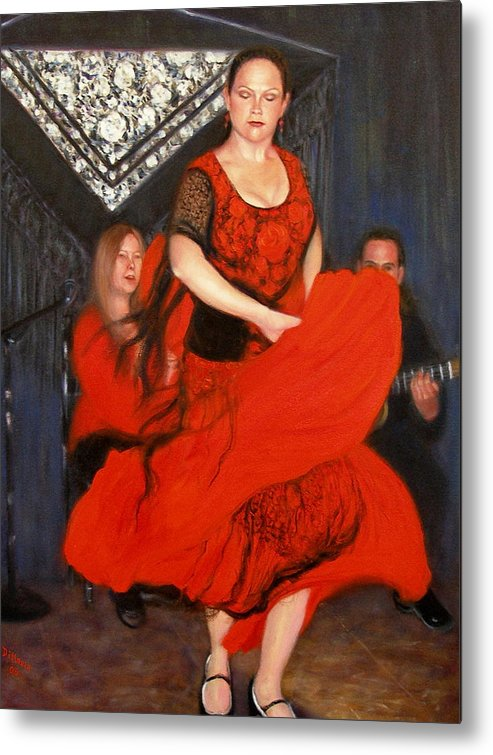 Realism Metal Print featuring the painting Flamenco 8 by Donelli DiMaria