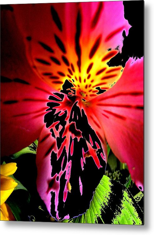 New Metal Print featuring the digital art Floral 711 by Chuck Landskroner