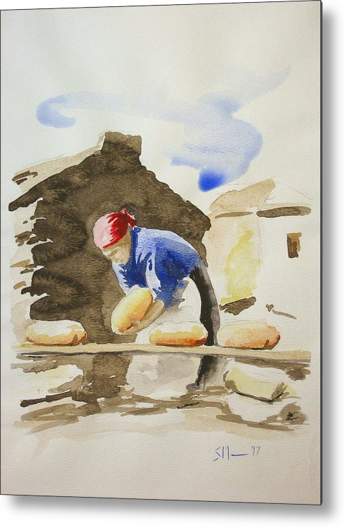 Bread Metal Print featuring the painting Fresh Bread by Scott Manning