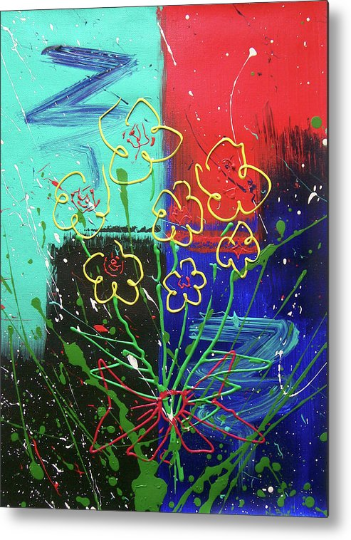 Abstract Metal Print featuring the painting Fresh Picked by Nino B