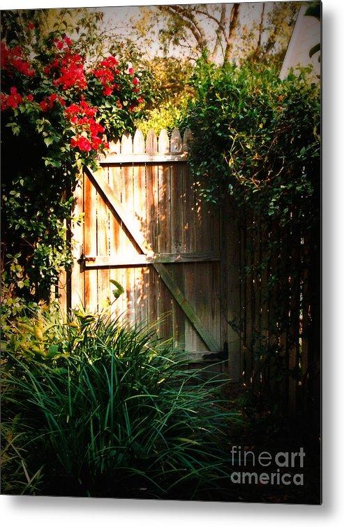 Garden Gate Metal Print featuring the photograph Garden Gate by Carol Groenen