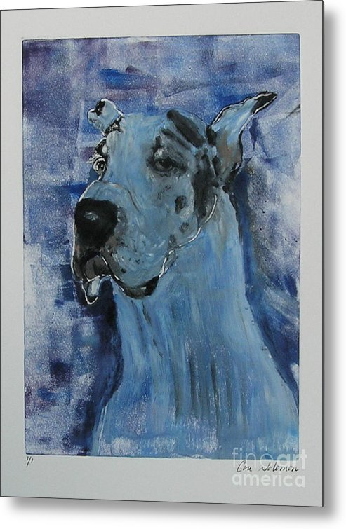 Great Dane Metal Print featuring the mixed media Gentle Giant by Cori Solomon