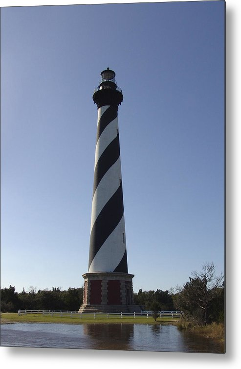 Hatteras Metal Print featuring the photograph Hatteras Lighthouse by Tina B Hamilton