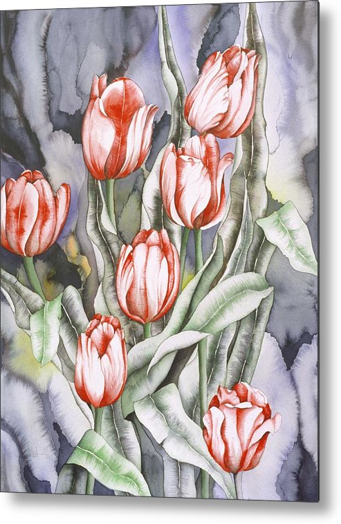 Flower Metal Print featuring the painting Home Sweet Home by Liduine Bekman
