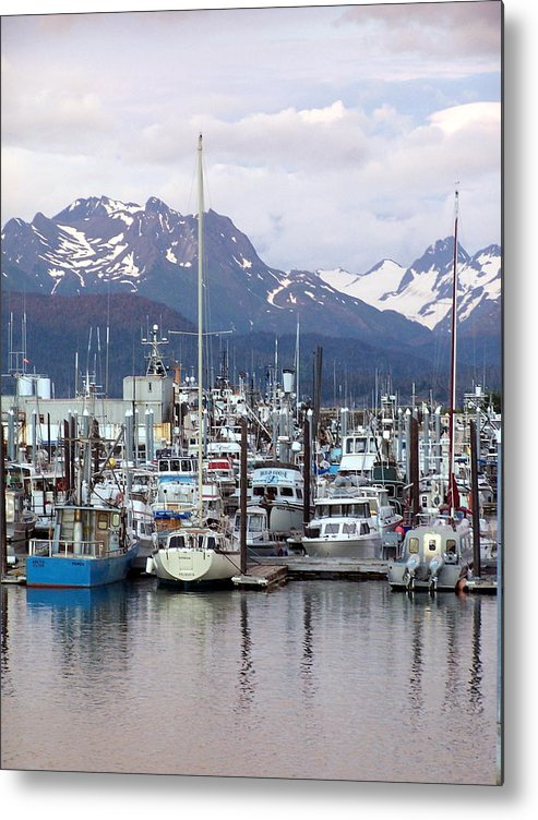 Homer Alaska Metal Print featuring the photograph Homer Harbor by Marty Koch