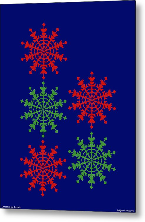 Metal Print featuring the digital art Ice Crystals by Al