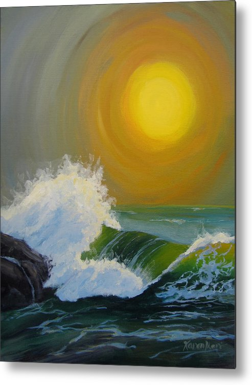 Sea Metal Print featuring the painting Inner Tide by Karen Ilari