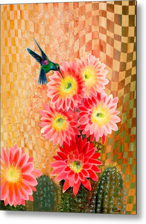 Hummingbird Metal Print featuring the painting Irresistible by Linda L Doucette