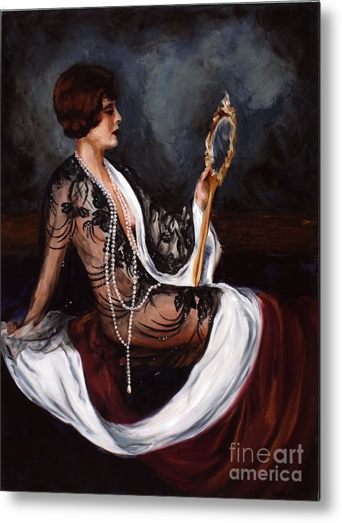 Woman Metal Print featuring the painting Jezabel by Robin DeLisle