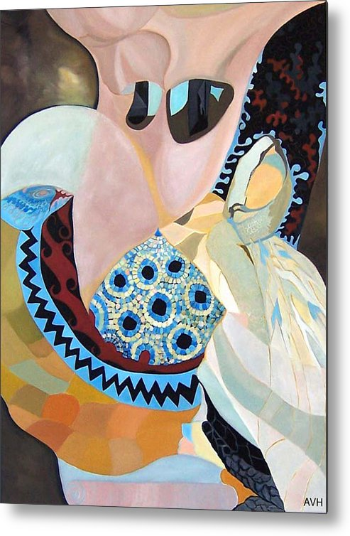 Figyrative Metal Print featuring the painting Jurney by Antoaneta Melnikova- Hillman