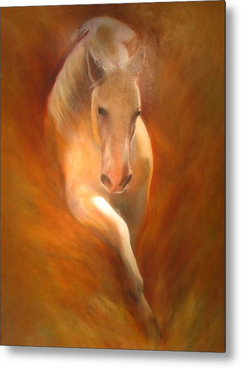 Horse Metal Print featuring the painting Lipizzaner by Elizabeth Silk