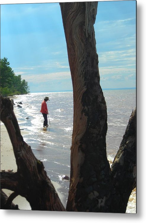 Beach Metal Print featuring the photograph Lost Woman by Peter Mowry