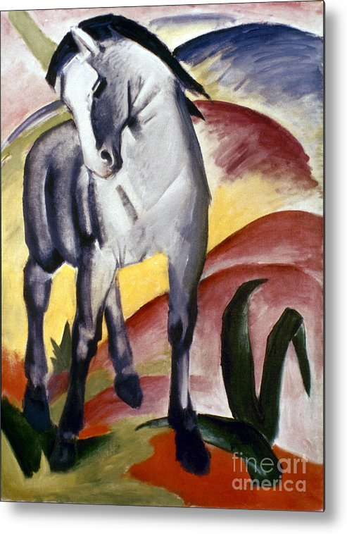 1911 Metal Print featuring the photograph Marc: Grey Horse, 1911 by Granger