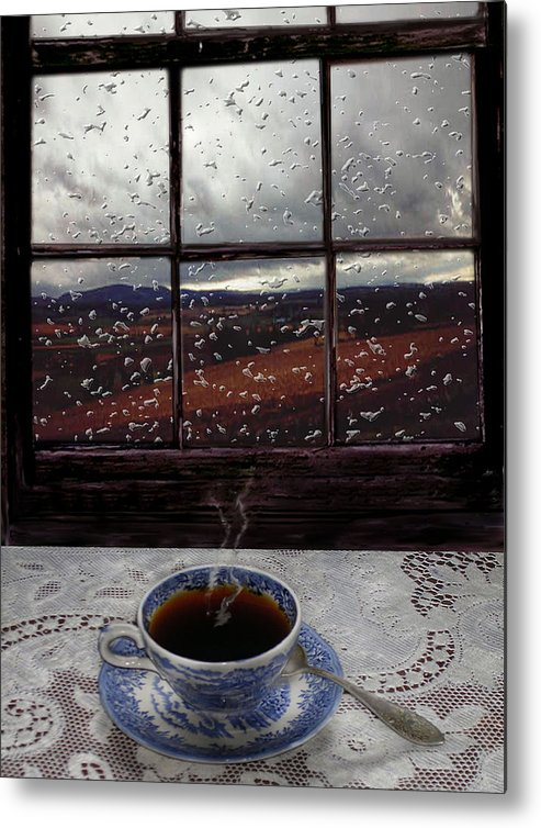 Landscape Metal Print featuring the digital art Mornings Promise by Evelynn Eighmey