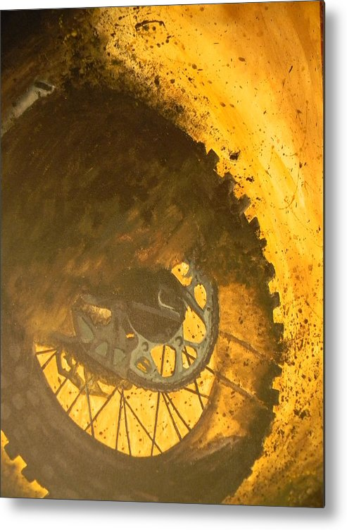 Chain Metal Print featuring the painting Mud Slinger          by Michaela Gonzalez
