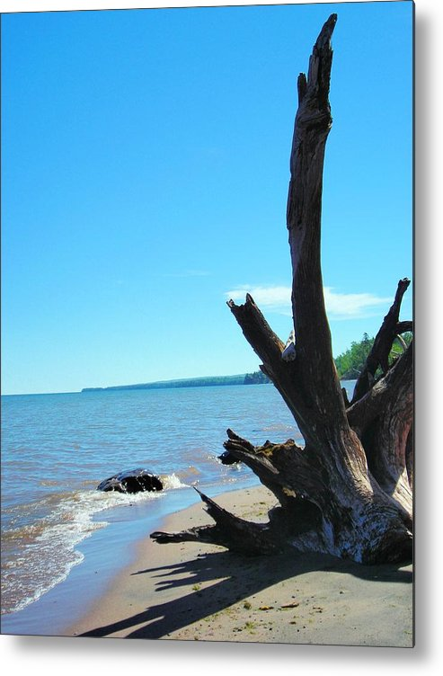 Landscape Metal Print featuring the photograph On The Water Front by Peter Mowry