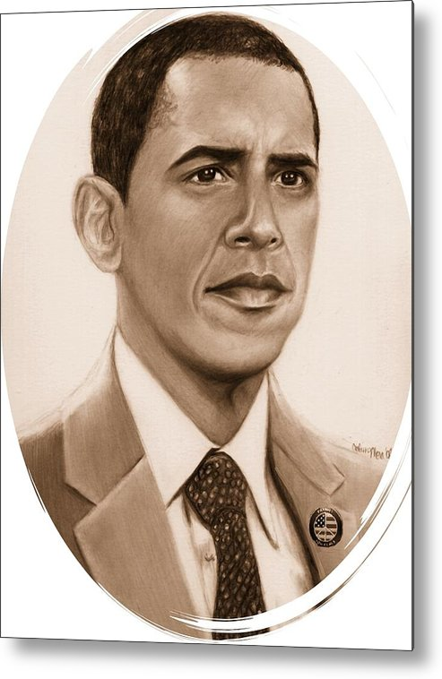Barack Metal Print featuring the print One Of Unchartered Waters by Carliss Mora