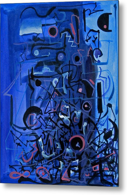 Abstract Metal Print featuring the painting Orchestra Section by David McKee