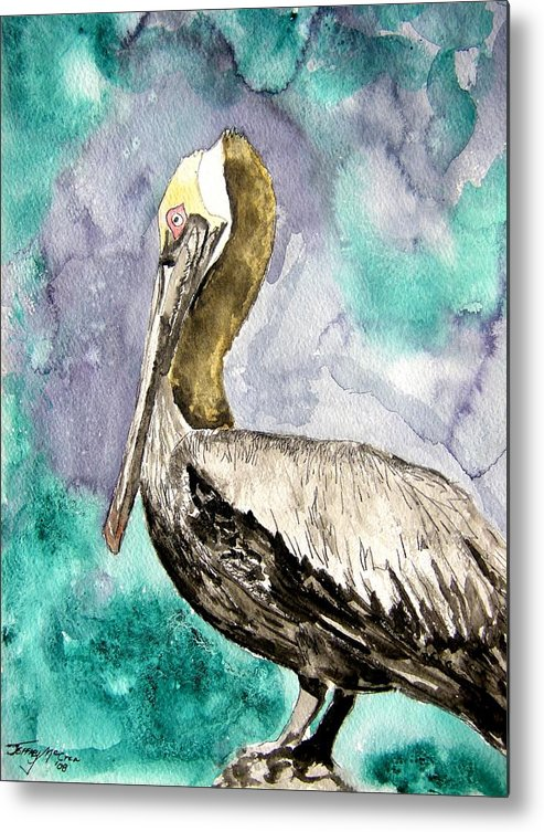 Pelican Metal Print featuring the painting Pelican by Derek Mccrea