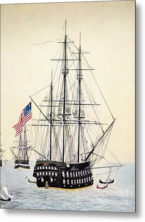 1854 Metal Print featuring the painting Perrys Expedition To Japan by Granger