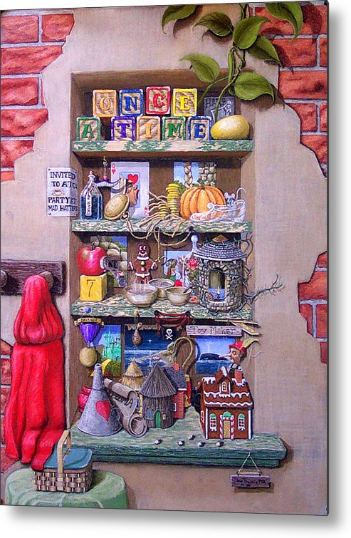 Still Life Metal Print featuring the painting Portrait Of A Storyteller by David Francis