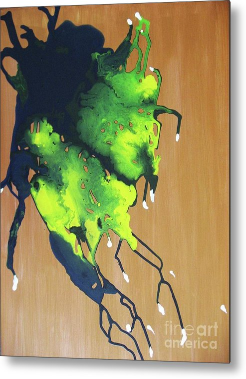 Abstract Metal Print featuring the painting Promised Land by Hoa Le