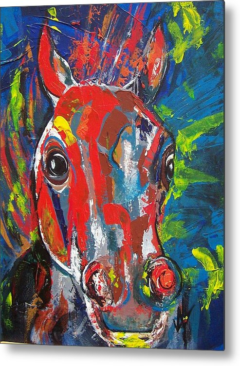 Horse Metal Print featuring the painting Rebel by Valerie Wolf
