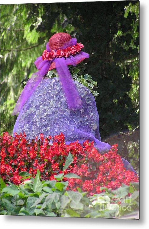 Red Hat Metal Print featuring the photograph Red Hat Veil by Louise Magno