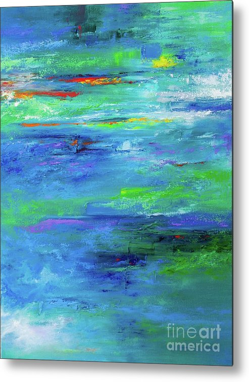 Art Metal Print featuring the painting Reflection-2 by Nutthawee Charusrisith