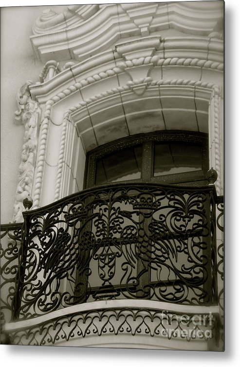 Black And White Metal Print featuring the photograph Regal by Amy Strong