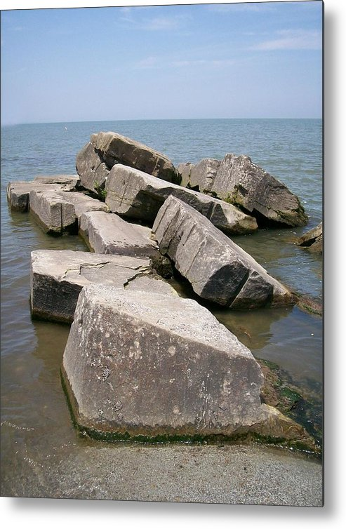 Rocks Metal Print featuring the photograph Rock Fortress by Sara Raber