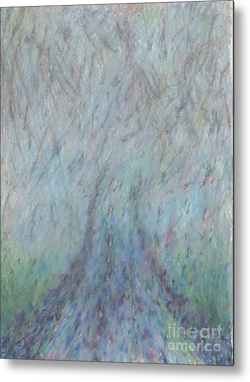 Fog Metal Print featuring the drawing Running Into Fog by Andy Mercer