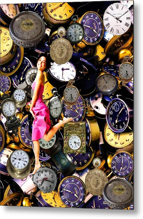 Time Metal Print featuring the mixed media Running Out Of Time by Animi Dawn