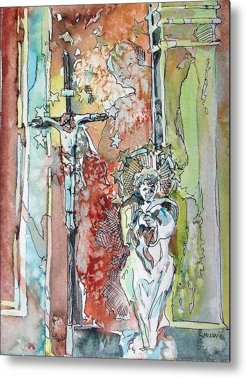 Jesus Metal Print featuring the painting Saint Cecilia Ronda Spain by Mindy Newman