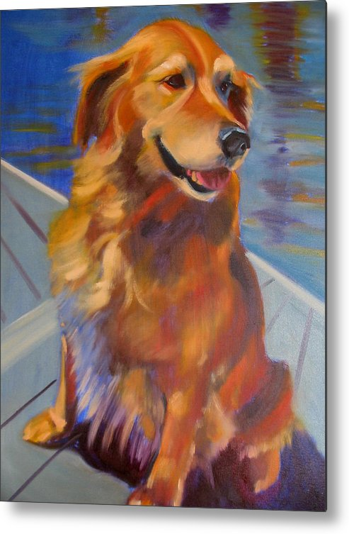 Golden Retriever Metal Print featuring the painting Sasha by Kaytee Esser