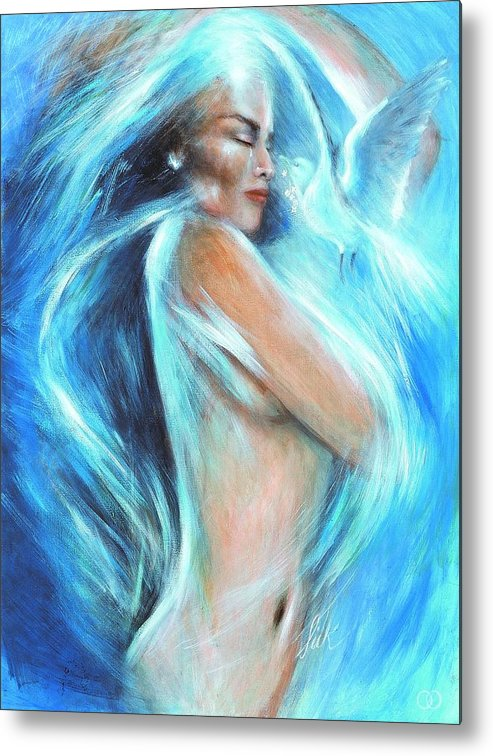 Vision Metal Print featuring the painting Self Love by Elizabeth Silk