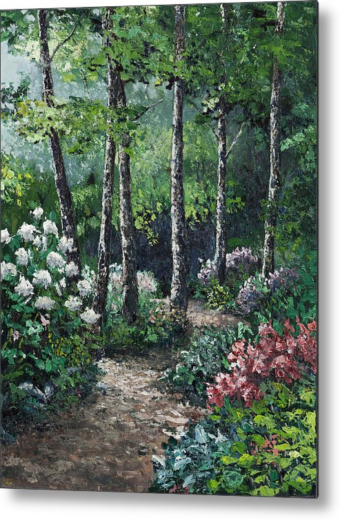Landscape Metal Print featuring the painting Shady Walk by Paul Illian
