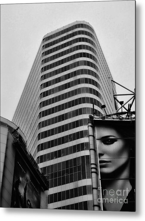 Bw Metal Print featuring the photograph Signs by Larry Simanzik