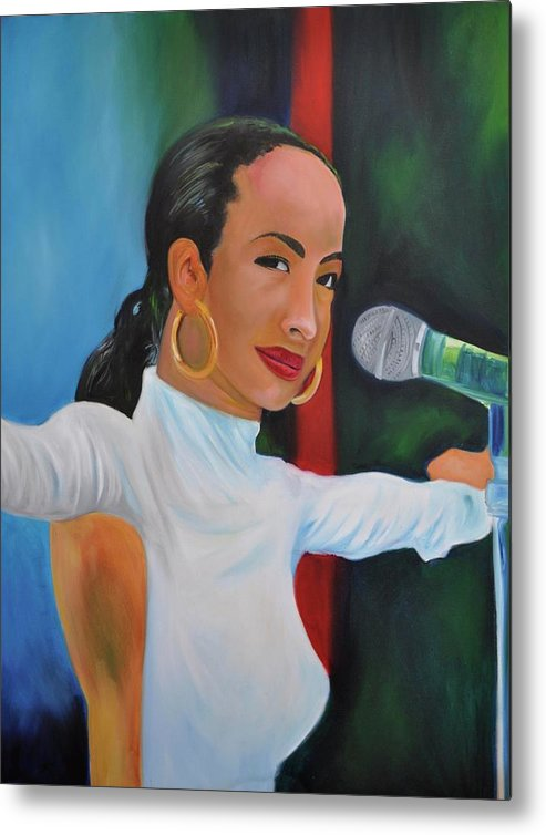 Singer Metal Print featuring the painting Smooth Operator by Mitchell Todd