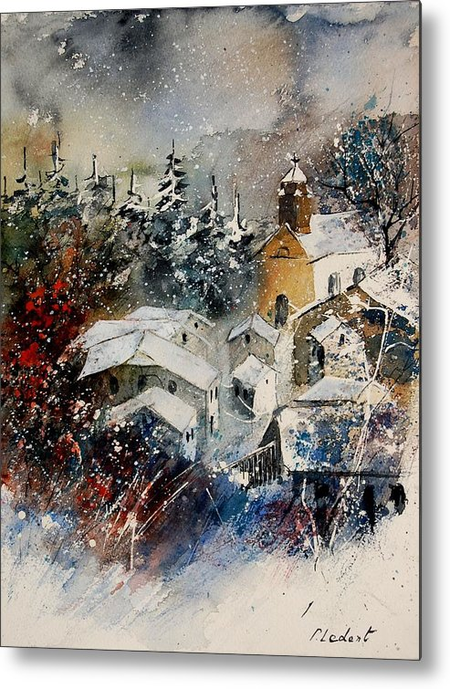 Landscape Metal Print featuring the painting Snon In Frahan by Pol Ledent