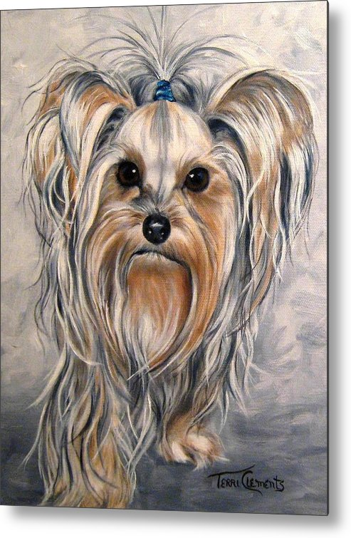 Dogs Metal Print featuring the painting Snoopy by Terri Clements