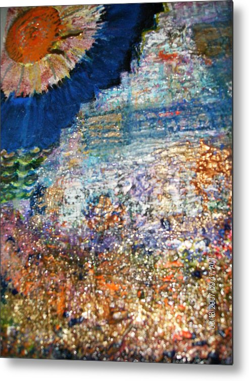 Roughterrain Metal Print featuring the mixed media Somewhere On Jupiter by Anne-Elizabeth Whiteway