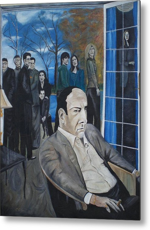 Tony Soprano Metal Print featuring the painting Sopranos by Colin O neill