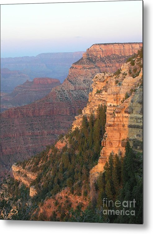 Sunset Metal Print featuring the photograph South Rim Sunset by Louise Magno